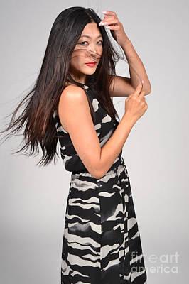 Sideways Glance Female Asian Model Poster by Heather Kirk