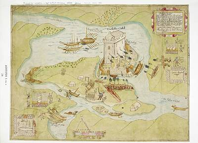 Siege Of Enniskillen Castle Poster by British Library