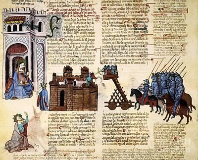 Siege Of Jerusalem, 1430 Artwork Poster by Patrick Landmann