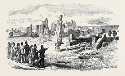 Siege Operations At Chatham Destruction Of The Stockade Poster