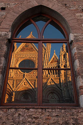 Sienna Cathedral Reflection Poster by Susan Rovira