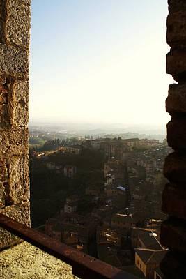 Sienna Tower Window 2 Poster by Barbara Stellwagen