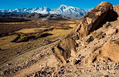 Sierra Nevada Owens River Chalk Bluff Poster by Gary Whitton