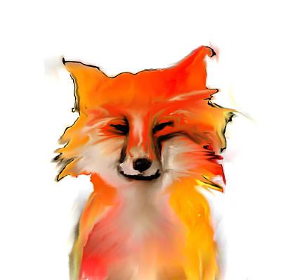 Sierra Nevada Red Fox Poster by Mel Gross