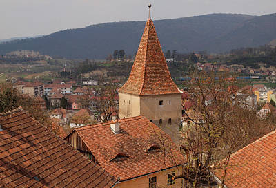 Sighisoara From The Rooftop  Poster