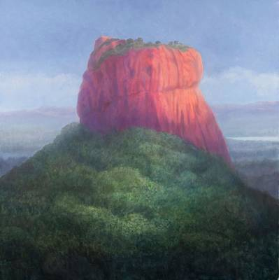 Sigiriya I, Sri Lanka, 2012 Acrylic On Canvas Poster by Lincoln Seligman