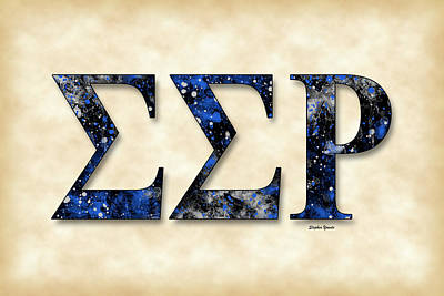 Sigma Sigma Rho - Parchment Poster