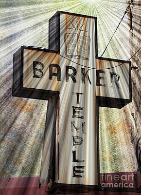Sign - Barker Temple - Kcmo Poster by Liane Wright