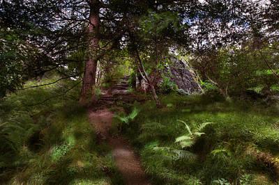 Signal Rock II Glencoe Poster by Niall McWilliam