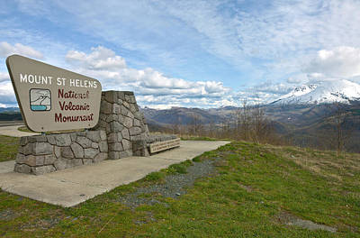Signpost At Mount St. Helens National Poster by Panoramic Images