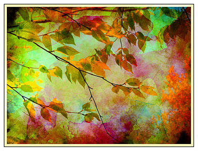 Poster featuring the digital art Signs Of Autumn by Nina Bradica