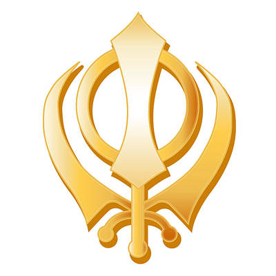 Sikh Symbol Poster by J M Designs