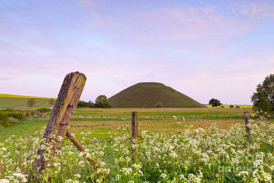 Silbury Hill Wiltshire Early Morning  Poster