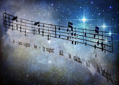 Silent Night Holy Night Poster by David and Carol Kelly