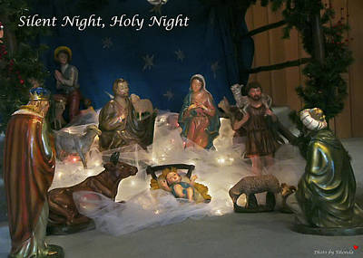 Silent Night Holy Night Poster by Rhonda McDougall