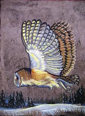 Silent Night Owl Poster