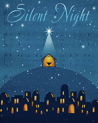 Silent Night Poster by P.s. Art Studios