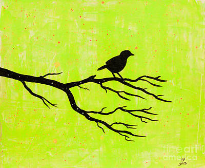Silhouette Green Poster