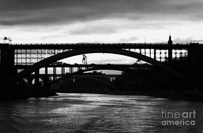 Silhouette In Evening Light Of Washington Heights Bridge Alexander Hamilton Bridge High Bridge Nyc Poster by Joe Fox