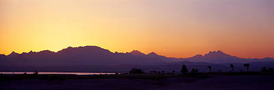 Silhouette Of A Golf Course With Sinai Poster by Panoramic Images
