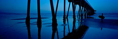 Silhouette Of A Pier, Hermosa Beach Poster