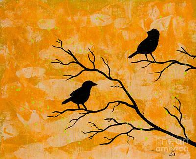 Silhouette Orange Poster by Stefanie Forck