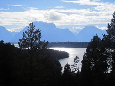 Silhouette Peaks Poster