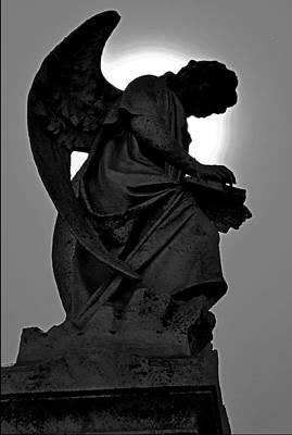 Silhoutte Angel Poster