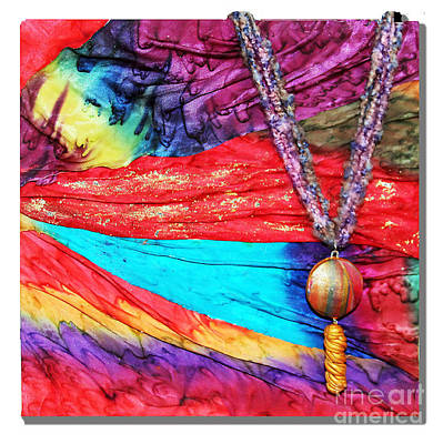 Silk Canvas With Necklace Poster by Alene Sirott-Cope