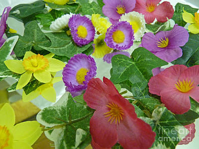 Silk Flowers For Springtime Poster