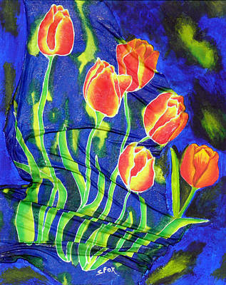 Silk Tulips Poster