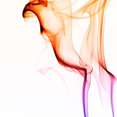 Silky Smoke On White Poster