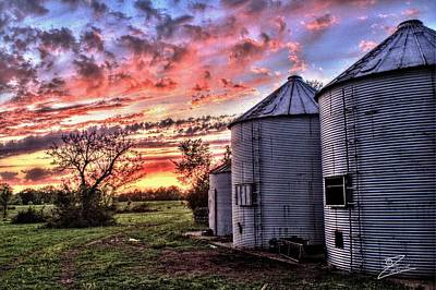 Silo Sunset Poster