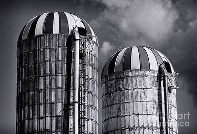 Silos Poster by Mark Miller