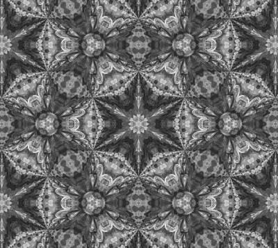 Silver Dreams Abstract Design Poster