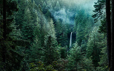 Poster featuring the photograph Silver Falls State Park by Brian Bonham
