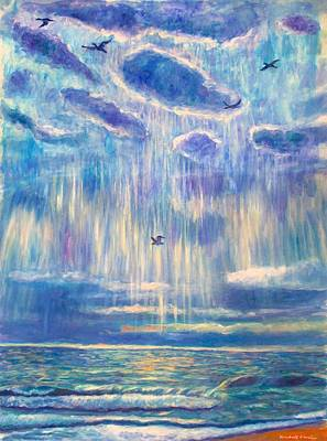 Silver Lining At Pawleys Island Poster by Kendall Kessler