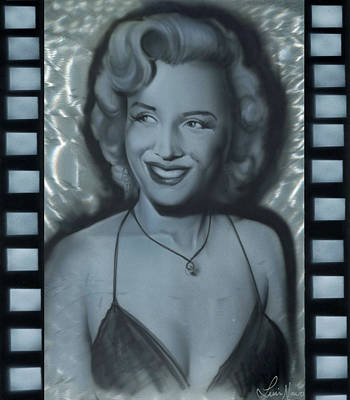 Silver Marylin 1 Poster by Luis  Navarro