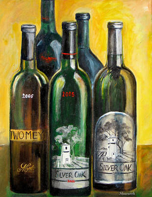 Poster featuring the painting Silver Oak by Sheri  Chakamian