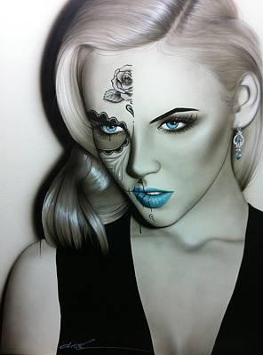 Sugar Skull - ' Silver Soul ' Poster by Christian Chapman Art