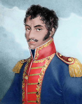 Simon Bolivar (caracas, 1793-santa Poster