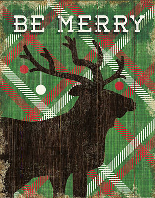 Simple Living Holiday Elk Poster