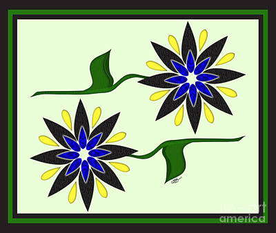 Simply Flowers Poster by Linda Seacord