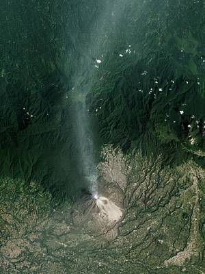 Sinabung Volcanic Eruption Poster by Nasa Earth Observatory