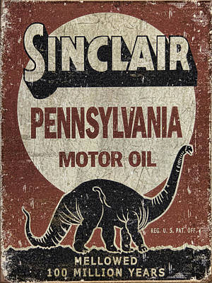 Sinclair Motor Oil Can Poster