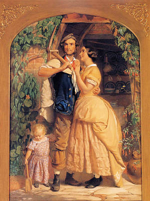 Sinews Old England Poster by George Elgar Hicks
