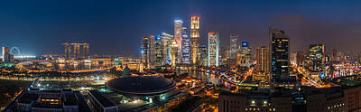 Singapore - Skyline Panorama Poster by Jean Claude Castor