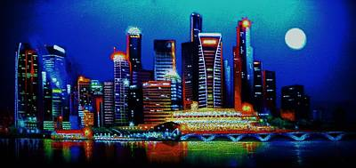 Singapore In Black Light Sold Poster