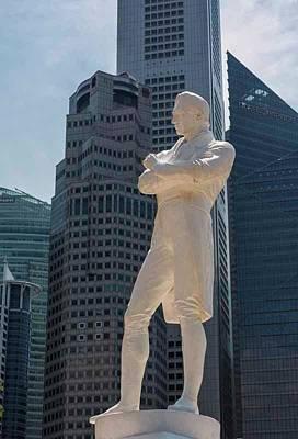 Singapore.  Sir Stamford Raffles Poster by Ken Welsh