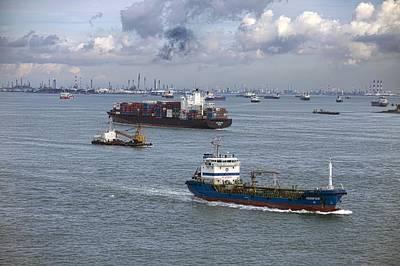 Singapore Strait Shipping Traffic Poster